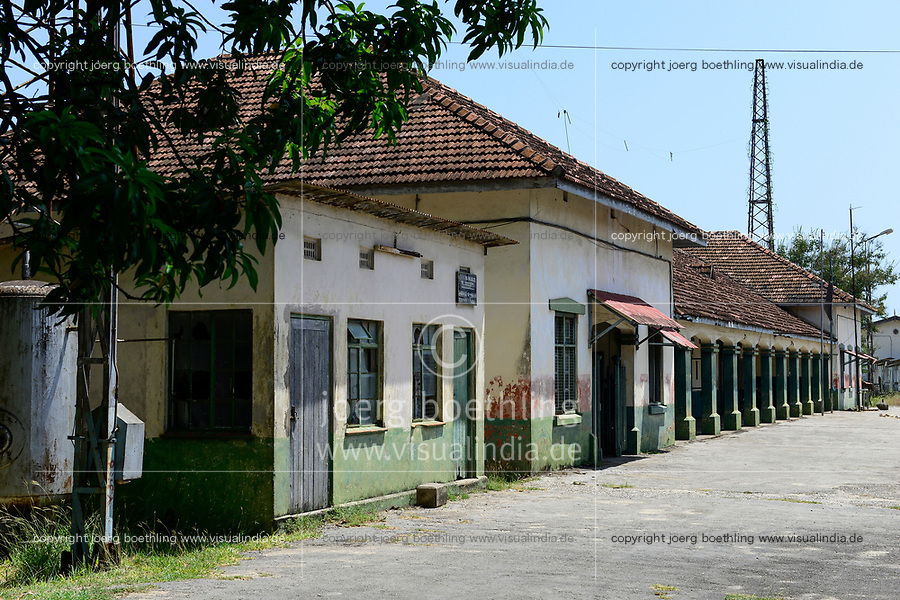 TANZANIA Tanga, old railway station from german colonial time, built 1893 as starting point of the Usambara railway line