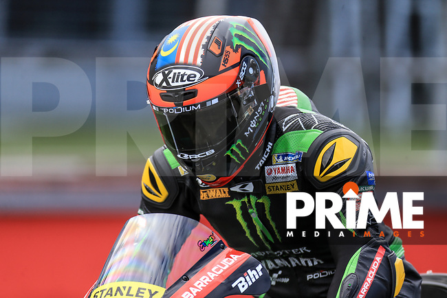 Hafizh Syahrin (55) of the Monster Yamaha Tech 3 race team during the GoPro British MotoGP at Silverstone Circuit, Towcester, England on 26 August 2018. Photo by Chris Brown / PRiME Media Images