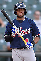 Reno Aces third baseman Andy Marte (8) during pacific coast league baseball game, Friday August 15, 2014 in Round Rock, Tex. Reno defeats Round Rock 11-9 to sweep three game series. (Mo Khursheed/TFV Media via AP Images)