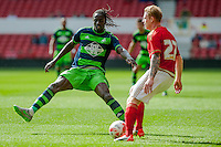 NOTTINGHAM, ENGLAND - JULY 25:  Eder in action during the pre season friendly match between Nottingham Forest and Swansea City at The City Ground on July 25, 2015 in Nottingham, England.  (Photo by Aled Llywelyn / Athena Pictures )