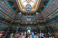 Royal Portuguese Reading Room<br /> Real Gabinete Português de Leitura in Rio de Janeiro, Brazil