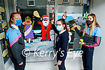 Ciara Moore, Amy McCarthy and Mairead Guerin, Presentation Secondary School students doing a TY project based on creating a Christmas window in the vacant shop of Lee Records in Tralee on Thursday.