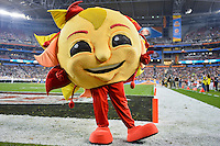 January 01, 2014:<br /> <br /> Fiesta Bowl mascot spirit at University of Phoenix Stadium in Scottsdale, AZ. UCF defeat Baylor 52-42 to claim it's first ever BCS Bowl trophy.