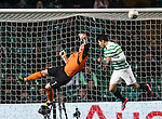 Arbroath keeper Scott Morrison punches clear from Miku