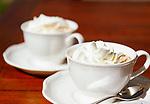 Italien, Suedtirol (Trentino - Alto Adige): Espresso mit Schlagsahne | Italy, South Tyrol (Trentino - Alto Adige): espresso wwith whipped cream