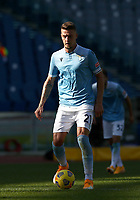 Football, Serie A: S.S. Lazio - Juventus Olympic stadium, Rome, November 8, 2020. <br /> Lazio's Sergej Milinkovic-Savic in action during the Italian Serie A football match between Lazio and Juventus at Olympic stadium in Rome, on November 8, 2020.<br /> UPDATE IMAGES PRESS/Isabella Bonotto