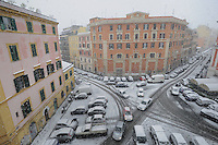 Maltempo.Bad weather.Neve a Roma.Snow in Rome....