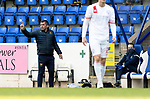 St Johnstone v Brechin City…10.10.20   McDiarmid Park  Betfred Cup<br />Saints manager Callum Davidson gives  instructions<br />Picture by Graeme Hart.<br />Copyright Perthshire Picture Agency<br />Tel: 01738 623350  Mobile: 07990 594431