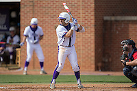 Tim Mansfield (3) of the High Point Panthers at bat against the NJIT Highlanders during game one of a double-header at Williard Stadium on February 18, 2017 in High Point, North Carolina.  The Panthers defeated the Highlanders 11-0.  (Brian Westerholt/Four Seam Images)