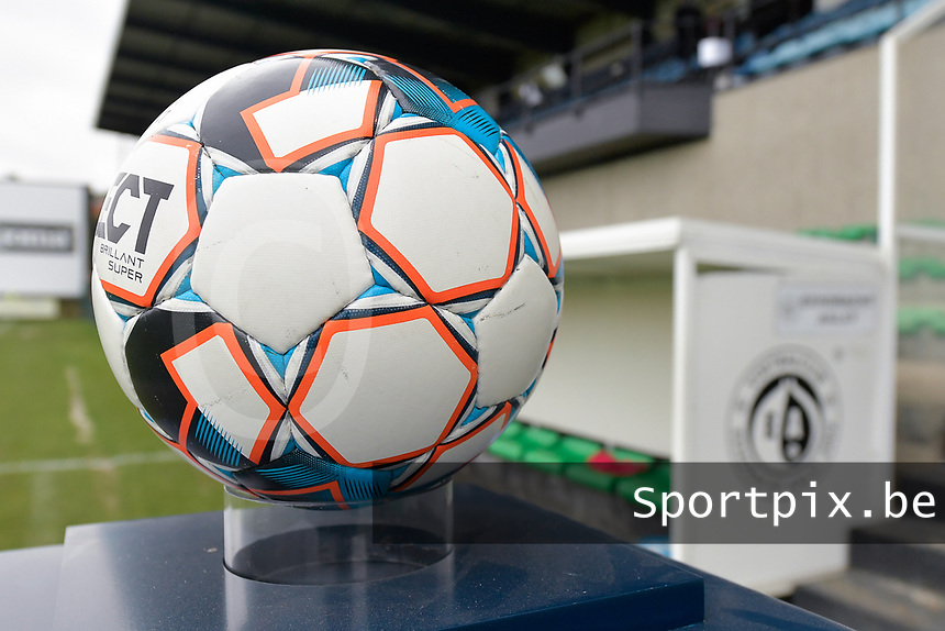 matchball in the Pierre Cornelisstadion  pictured during a female soccer game between Eendracht Aalst and AA Gent Ladies on the 10 th matchday of the 2020 - 2021 season of Belgian Scooore Womens Super League , Saturday 19 th of December 2020  in Aalst , Belgium . PHOTO SPORTPIX.BE | SPP | DIRK VUYLSTEKE