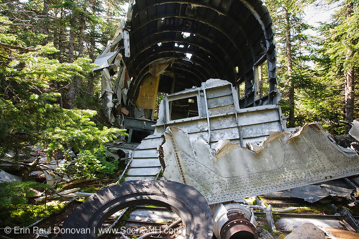 Appalachian Trail - Crash site of Northeast Airlines Flight 792 on Mount Success in the New Hampshire White Mountains. This plane was a Douglas DC-3 that crashed on November 30, 1954. The seven people on-board survived the initial crash, but two later died from injuries while waiting to be rescued.