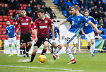 St Johnstone v St Mirren…27.10.18…   McDiarmid Park    SPFL<br />David Wotherspoon opens the scoirng for saints<br />Picture by Graeme Hart. <br />Copyright Perthshire Picture Agency<br />Tel: 01738 623350  Mobile: 07990 594431