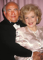 Betty White Ed Asner 1990  Photo by Adam Scull-PHOTOlink.net