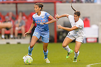 Chicago, IL - Saturday July 30, 2016: Cara Walls, Brittany Taylor during a regular season National Women's Soccer League (NWSL) match between the Chicago Red Stars and FC Kansas City at Toyota Park.