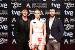 Rodrigo Sorogoyen, Aura Garrido and Javier Pereira attends the Goya Awards nominee party at Canal Theater in Madrid, Spain. January 20, 2014. (ALTERPHOTOS/Victor Blanco)