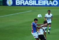 16th November 2020; Couto Pereira Stadium, Curitiba, Brazil; Brazilian Serie A, Coritiba versus Bahia; Mattheus Oliveira of Coritiba beaten to the header by Fressin of Bahia