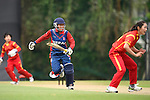 Sita Rana Magar of Nepal in action during their ICC 2016 Women's World Cup Asia Qualifier match between China and Nepal  on 11 October 2016 at the Kowloon Cricket Club in Hong Kong, China. Photo by Marcio Machado / Power Sport Images