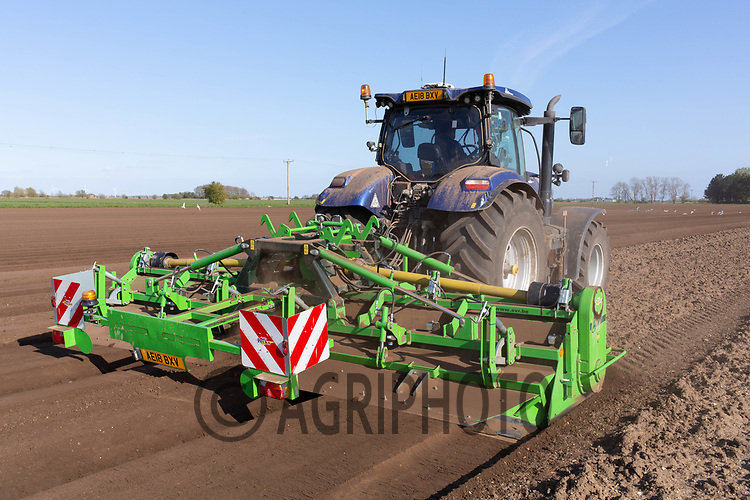 21-4-2021 Bed forming ready for planting potatoes in the Lincolnshire Fens <br /> ©Tim Scrivener Photographer 07850 303986<br />      ....Covering Agriculture In The UK....