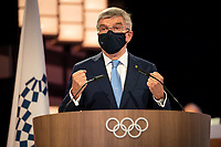 210721 -- TOKYO, July 21, 2021 -- International Olympic Committee  President Thomas Bach speaks during the 138th Session in Tokyo, Japan, on July 20, 2021. The move of adding together into the Olympic motto of faster, higher, stronger was unanimously approved at the 138th session here on Tuesday. /Handout via Xinhua TOKYO2020JAPAN-TOKYO--138TH SESSION-OLYMPIC MOTTO IOC PUBLICATIONxNOTxINxCHN<br /> Photo Imago / Insidefoto ITALY ONLY