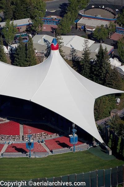 aerial photograph Shoreline Amphitheatre Mountain View, California
