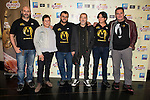 "The left to the right, Pedro Pruneda, Geli Albaladejo, David Perea, Enrique Guillen, Magdalena Blesa and Carolo Ruiz during the presentation of the film ""Las aventuras de Moriana"" at Press Palace in Madrid, October 22, 2015.<br /> (ALTERPHOTOS/BorjaB.Hojas)"