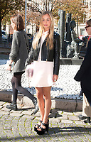 October 3 2017, PARIS FRANCE the Miu Miu<br /> Show at the Paris Fashion Week Spring Summer 2017/2018. Lady Amelia Windsor<br /> arrives at the show.
