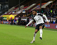 17th February 2021; Turf Moor, Burnley, Lanchashire, England; English Premier League Football, Burnley versus Fulham; Ademola Lookman of Fulham controls the high ball