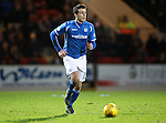 St Johnstone v Hearts..19.12.15  SPFL  McDiarmid Park, Perth<br /> Joe Shaughnessy<br /> Picture by Graeme Hart.<br /> Copyright Perthshire Picture Agency<br /> Tel: 01738 623350  Mobile: 07990 594431