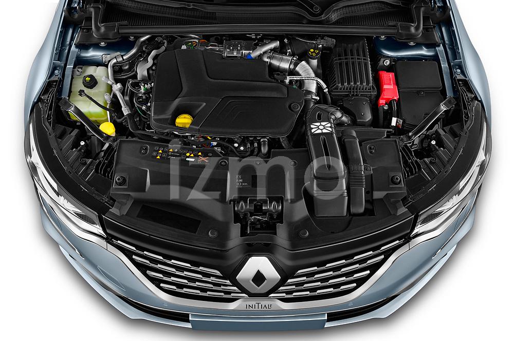 Car Stock 2021 Renault Talisman-Grandtour Initiale-Paris 5 Door Wagon Engine  high angle detail view