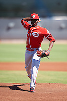 Cincinnati Reds pitcher Luis Alecis (81) during an Instructional League game against the Chicago White Sox on October 11, 2016 at the Cincinnati Reds Player Development Complex in Goodyear, Arizona.  (Mike Janes/Four Seam Images)
