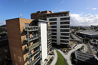 WORDS BY KARL WEST<br />Pictured: Blocks of flats recently built Friday 30 September 2016<br />Re: The regeneration of the High Street in Swansea, Wales, UK