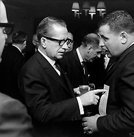 Le premier ministre Daniel Johnson<br /> en octobre 1966<br /> <br /> Photographe : Photo Moderne<br /> - Agence Quebec Presse