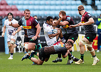 26th December 2020; Twickenham Stoop, London, England; English Premiership Rugby, Harlequins versus Bristol Bears; Siva Naulago of Bristol Bears is stopped by Will Evans of Harlequins