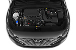 Car Stock 2020 Hyundai i30-Fastback Sky 5 Door Hatchback Engine  high angle detail view