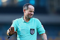 Referee Robert Lewis during AFC Wimbledon vs Crawley Town, Emirates FA Cup Football at Plough Lane on 29th November 2020