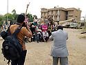 Iraq 2011 <br /> In Suleimania,  Kurdish photographers in Amne Tseraka after the exhibition of their pictures <br /> Irak 2011 <br /> Souleimania: Des  photographes kurdes celebrent la fin d'ateliers photographiques avec leurs formateurs americains a Amne Tseraka, l'ancien centre de la sécurité irakienne