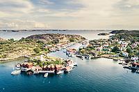 Tranquil coastal village and marina, Bohus Malmön, West Sweden, Sweden - Västsverige, Sverige