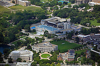 aerial photograph of the Cleveland Art Museum, University Circle, Cleveland, Ohio