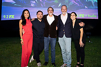 """Staten Island, NY - AUGUST 17: Marika Sawyer, William Meny, Paul Simms, Sam Johnson and Sarah Naftalis attend the premiere event for FX's """"What We Do in the Shadows"""" at Snug Harbor on August 17, 2021 in Staten Island, New York. (Photo by Ben Hider/FX/PictureGroup)"""