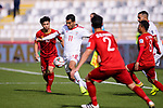 Vahid Amiri of Iran (2nd L) in action against Nguyen Cong Phuong of Vietnam (L) during the AFC Asian Cup UAE 2019 Group D match between Vietnam (VIE) and I.R. Iran (IRN) at Al Nahyan Stadium on 12 January 2019 in Abu Dhabi, United Arab Emirates. Photo by Marcio Rodrigo Machado / Power Sport Images