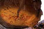 DOH,Who were the first Americans, Rock Art, 11670 years old, Cueva de los Manos, Cave of the Hands, Patagonia, the animals are guanacos