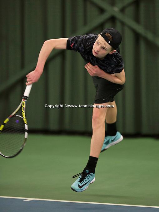 Rotterdam, The Netherlands, March 20, 2016,  TV Victoria, NOJK 14/18 years, Jesper de Jong  (NED)<br /> Photo: Tennisimages/Henk Koster