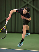 Rotterdam, The Netherlands, March 20, 2016,  TV Victoria, NOJK 14/18 years, Jesper de Jong  (NED)<br /> Photo: Tennisimages/Henk Koster