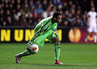 Swansea, UK. Thursday 20 February 2014<br /> Pictured: Swansea goalkeeper Michel Vorm<br /> Re: UEFA Europa League, Swansea City FC v SSC Napoli at the Liberty Stadium, south Wales, UK