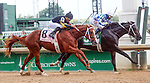 September 06, 2014:   Lucky Player (Ricardo Santana Jr.) wins the 33rd running of the G3 Iroquois over Bold Conquest (Joel Rosario.)  Lucky Player is trained by Steven Asmussen and owned by Jerry Durant. Bold Conquest is also trained by Steven Asmussen and owned by the Ackerley Brothers Farm. ©Mary M. Meek/ESW/CSM