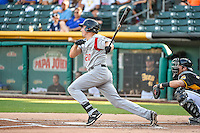 Matt McBride (20 of the Albuquerque Isotopes at bat against the Salt Lake Bees in Pacific Coast League action at Smith's Ballpark on June 27, 2015 in Salt Lake City, Utah. The Bees defeated the Isotopes 8-6. (Stephen Smith/Four Seam Images)