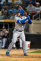 Omaha Storm Chasers Nick Pratto (32) during a game against the St. Paul Saints on September 7, 2021 at CHS Field in St. Paul, Minnesota.  (Brace Hemmelgarn/Four Seam Images)