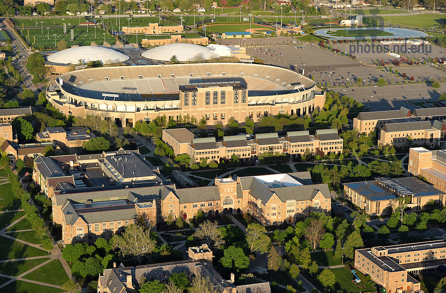 May 16, 2011; Law School (foreground) and Notre Dame Stadium...Photo by Matt Cashore/University of Notre Dame