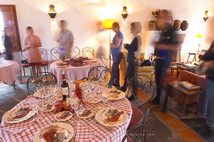 Lunch table. J Portugal Ramos Vinhos, Estremoz, Alentejo, Portugal