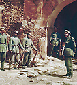 Iraq 1963 .Iraqi soldiers at the entrance of the fort of Koysanjak.Irak 1963.Soldats irakiens a l'entree du fort de Koysanjak